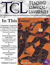 Teaching Classical Languages Volume 5 Issue 2 Cover