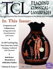 Cover image for issue 8.1 (ancient vase modified with a dog learning tricks)